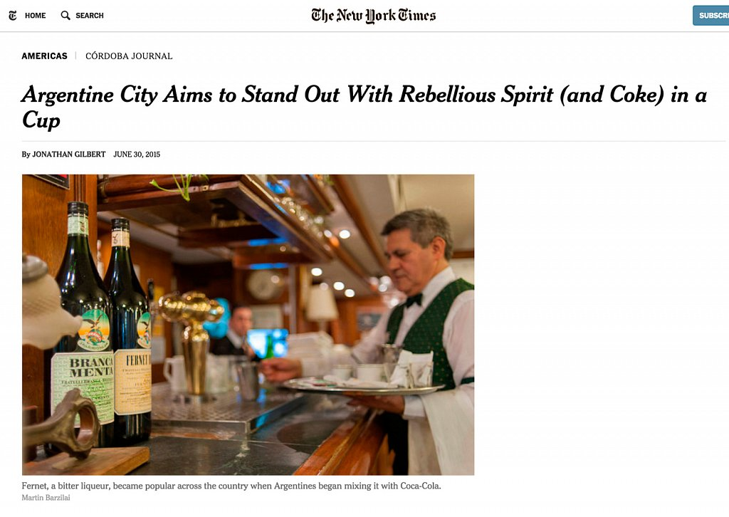 New York Times - Fernet