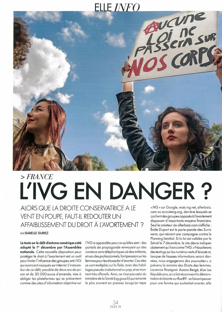 Elle France HIV Danger